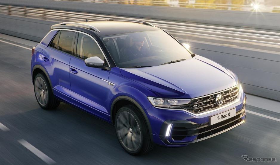 【自動車】VW『T-Roc』に頂点「R」、ゴルフR 譲りの300馬力ターボ搭載…ジュネーブモーターショー2019で発表予定