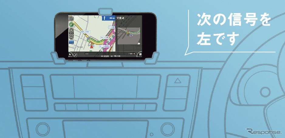 VW spice up! のVolkswagen maps+moreアプリイメージイラスト