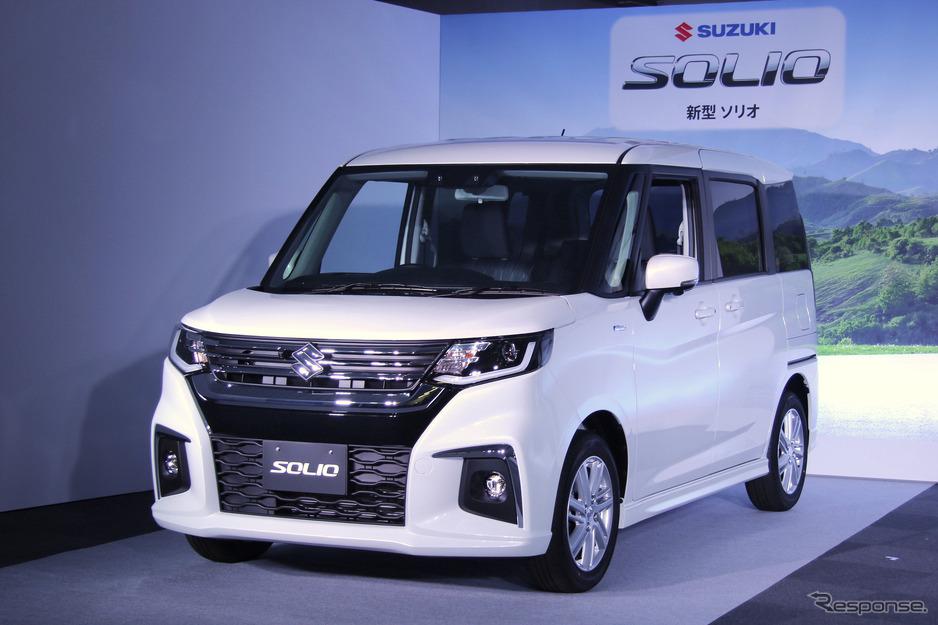 【自動車】【スズキ ソリオ 新型】ボディサイズ拡大で快適性や利便性向上…価格は158万1800円より