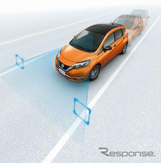 「新型セレナ自動運転画像 車線逸脱防止」の画像検索結果