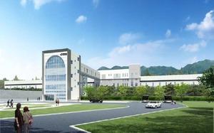 北海道新幹線奥津軽駅(仮称)の完成イメージ。現在の津軽今別駅を取り込む形で建設される。
