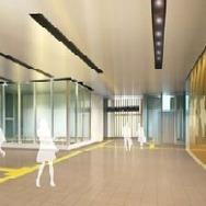 奥津軽駅コンコースのイメージ。