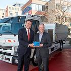 三菱ふそう、小型電気トラックの実用供試をドイツで開始…ポルトガルに続き2か国目