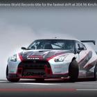 日産 GT-R、304.96km/hで高速ドリフト…ギネス新記録の瞬間[動画]