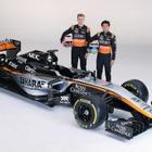 【F1】フォースインディアが新車『VJM08』のカラーリングを発表…黒×シルバーベースの斬新なデザインに