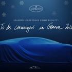 【クリスマス】ブガッティ シロン、発表をクリスマスカードで予告