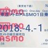 東京のICカード地下鉄1日乗車券が無記名『PASMO』も対象に 3月17日から…子供用はなし