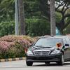 米朝首脳会談、トランプ大統領と金委員長の車[フォトレポート]