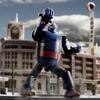 『鉄人28号』ビルの街にガオー! リモコン操作で主題歌・効果音が流れる超合金フィギュア