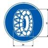 「タイヤチェーン規制」の標識を設定へ…スタッドレスタイヤも通行禁止