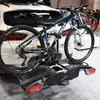 トウバー装着のサイクルキャリアやダンパーを展示した阿部商会ブース…東京オートサロン2019