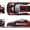 ホンダアクセス、SUPER GT参戦マシンのカラーリングを公開