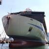 星空と海、「癒しの旅」に阪九フェリー新造船が進水 三菱造船