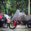 バイク用ハーフカバー登場、コンパクトかつ機能的なキャンプツーリング向け商品