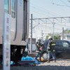 震度6弱の地震が発生、電車と自動車が衝突---西武鉄道が総合復旧訓練を実施