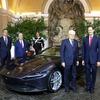 フェラーリの新型スーパーカー、『ローマ』…イタリア大統領が視察