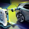 VWが移動式の充電ロボット開発、完全自動でEVなどを充電