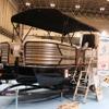 なぜかボートが展示されているヤマハのブース…ジャパンキャンピングカーショー2020