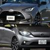 トヨタ ヤリス&ホンダ フィット 新型、カタログスペック比較!燃費、走り、快適性…その違いは?