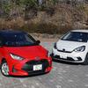 【ヤリス vs フィット 比較試乗】フィットは余裕の27km/L超え、ヤリスはガソリン車が健闘…燃費性能編