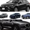 【ミドルサイズSUV まとめ】ハリアーなど注目5車種を比べる…価格や最新情報、試乗記
