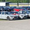 BMW M3セダン 新型がズラリ!ルーフパネルはカーボンファイバー採用か