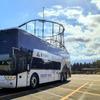 車体に北斎の富士、2階建てバス…富士急グループが高速バス路線に導入