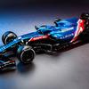 【F1】アルピーヌF1、2021年マシン『A521』レーシングカラー公開「表彰台めざし戦う」