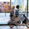 ドラマ「ボス恋」のフォトスポット設置、タンデムシーンを再現…プジョーモトシクル赤坂ショールーム