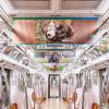動物園の人気者たちが電車をジャック! 「深い癒やしトレイン」走行中