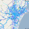 通れた道路マップ、1日6回更新に…被災地の復旧を速やかに反映