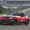 マツダ ロードスター 新型、米ラグナセカでペースカーに起用