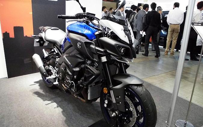 【人とくるまのテクノロジー16】ヤマハ、日本未発表の欧州向け最高峰モデル MT-10 を展示…跨りOK 画像