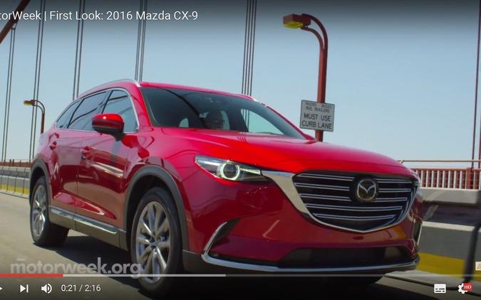 マツダ CX-9 新型、米メディアがテスト[動画] 画像