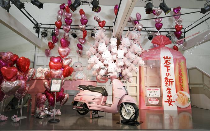 岩下の新生姜ミュージアムに展示されているプジョー ジャンゴ125 ABS