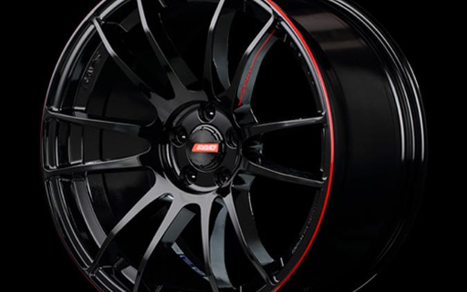 Gram Lights 57Xtreme REVLIMIT EDITION 装着ホイール:18x7 1/2J 5H-114.3 INSET 49 カラー:ブラック&マシニング/E-pro Coat タイヤサイズ:255/55R18 価格:45,000円/ホイール1本。おすすめサイズは、18×8 1/2J  INSET 36 47,000円、19×8 1/2J  INSET 43  54,000円 がおすすめです。