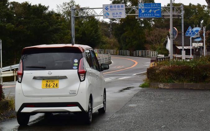 南九州自動車道は熊本~鹿児島県境区間が未成。開通したあかつきにはこの国道3号線の県境エリアも交通過疎になることだろう。