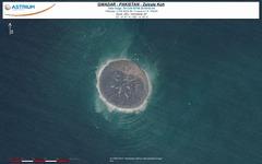 仏アストリウム、パキスタン地震島の大きさを地球観測衛星『プレアデス』画像で推定 画像