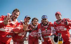 【ダカール16】HIMOINSAレーシング、二輪部門で全員完走…ヤンマーがサポート 画像