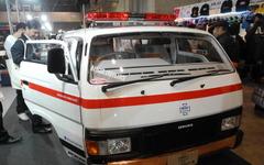 【東京オートサロン16】WiZの救急車、 キャラバン と シルビア を合体して製造 画像