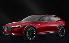 マツダの新型SUV、さらなるスクープ…クーペボディと内装が見えた 画像