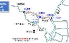 「神田川周遊ミニクルーズ」の社会実験を実施…参加者を募集 画像