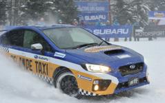スバルのゲレンデタクシー、ラリードライバー新井選手の迫力ある走り 画像