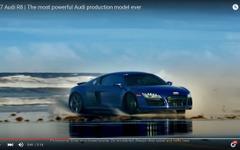 アウディ R8 新型、砂浜でテールスライド[動画] 画像