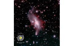 スターバースト銀河NGC 6240から吹き出す電離ガス、詳細構造を捉えることに成功 画像