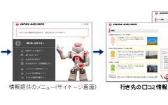サービスロボットが空港案内、羽田空港で実証実験…JALと野村総研 画像