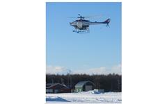 ヤマハ発動機、無人ヘリコプターの寒冷地試験を大樹町で実施 画像
