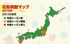 関東と九州南部で花粉シーズンに…ウェザーニューズ 画像