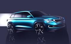 【ジュネーブモーターショー16】シュコダ謎の新型車、正体判明…SUVコンセプト 画像