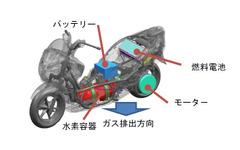 世界初、燃料電池二輪車の安全基準を策定 国交省 画像